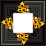 3D rendent le cadre de fond de fleur Photographie stock libre de droits