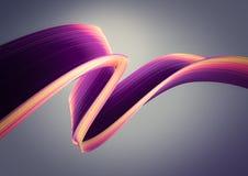 3D rendent le fond abstrait Formes tordues colorées dans le mouvement Art numérique généré par ordinateur illustration de vecteur