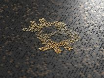3d rendent le fond numérique de Bitcoin de haute résolution Images libres de droits
