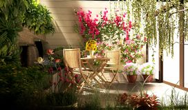 3d rendent le jardin miniature illustration stock