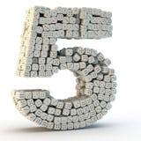 3D rendent le numéro cinq illustration stock