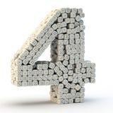 3D rendent le numéro quatre illustration de vecteur