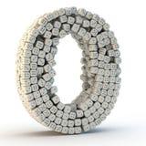 3D rendent le numéro zéro illustration stock