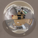 3d rendent le panorama 360 sans couture du salon Image stock