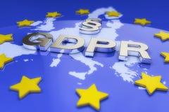 3d rendent - le règlement général GDPR de protection des données - l'Européen Image libre de droits