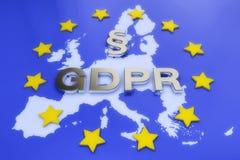 3d rendent - le règlement général GDPR de protection des données - l'Européen Images libres de droits