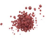 3d rendent les cubes roses et le fond blanc illustration libre de droits