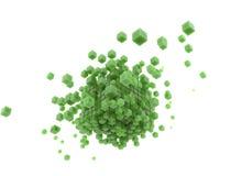3d rendent les cubes verts et le fond blanc illustration libre de droits