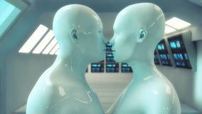 3d rendent Mâle et chiffre humain femelle de humanoïde Photographie stock libre de droits