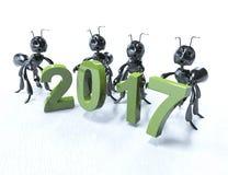 2017 3D rendent, 2017 nouveau Year& x27 ; tête de s Photo libre de droits