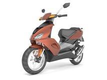 3d rendent sur le scooter blanc de brun de fond Illustration Stock