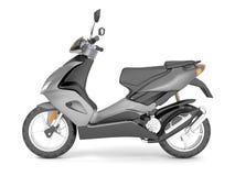 3d rendent sur le scooter blanc de gris de fond Illustration Stock