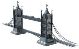 3D rendent d'un pont anglais sur un fond blanc photos libres de droits