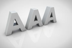 3D render AAA financial credit notation Royalty Free Stock Photography