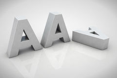 3D render AAA financial credit notation Royalty Free Stock Photo
