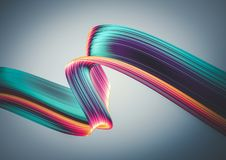 3D render abstract background. Colorful twisted shapes in motion. Computer generated digital art. 3D render abstract background. Colorful twisted shapes in vector illustration