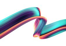 3D render abstract background. Colorful twisted shapes in motion. Computer generated digital art. 3D render abstract background. Colorful twisted shapes in Stock Photo