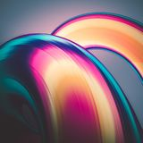 3D render abstract background. Colorful twisted shapes in motion. Computer generated digital art for poster, flyer, banner backgro. Und or design element Royalty Free Stock Photos