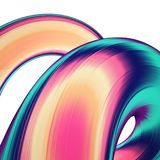 3D render abstract background. Colorful twisted shapes in motion. Computer generated digital art for poster, flyer, banner. 3D render abstract background Stock Image