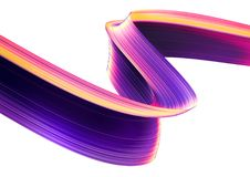 3D render abstract background. Colorful twisted shapes in motion. Computer generated digital art. 3D render abstract background. Colorful twisted shapes in Stock Photography