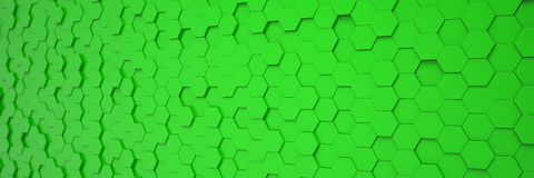 3d render - abstract background - polygon - green Stock Photos