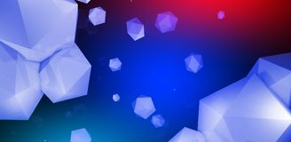 3d render. Abstract background with a polygon, neon light. Neon abstract background with backlight, modern design. White polygons scattered particles vector illustration