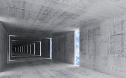 3d render, abstract grungy concrete interior background Stock Image