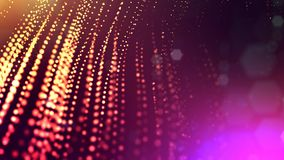3d render of abstract multi-color composition with depth of field and glowing particles in dark with bokeh effects. 3d render of abstract composition with depth vector illustration