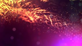 3d render of abstract multi-color composition with depth of field and glowing particles in dark with bokeh effects. 3d render of abstract composition with depth royalty free illustration