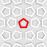 3d Render of an Abstract Pentagonal Background Royalty Free Stock Images