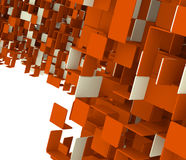 Abstract cube background Royalty Free Stock Photos