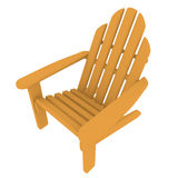 3d Render of an Adirondack Chair Stock Photos