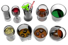 3d render of alcohol drinks Stock Photography