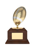 3d render of american footballl trophy over white. 3d render of american football trophy isolated on white background Stock Images