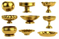 3d render of antique bowls Stock Photography