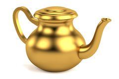 3d render of antique teapot Royalty Free Stock Photo