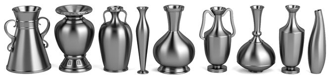 3d render of antique vases Royalty Free Stock Photography