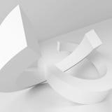 3d Render of Architecture Concept. 3d Render of White Modern Architecture Concept Royalty Free Stock Images