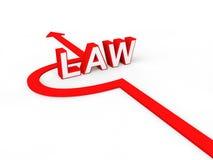 3d render of avoiding law concept Stock Image
