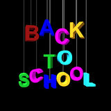 3D Render of Back to School Word Royalty Free Stock Photography