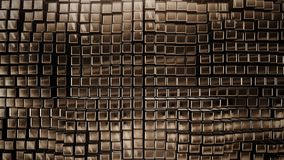 3D render Background from the golden squares. 4k Stock Photos