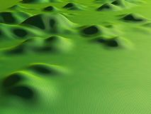 3d render background of green hills. Render of green meadow Royalty Free Stock Photos
