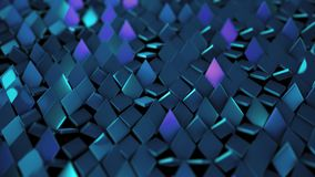 3D render background of purple blue shiny rombus. 4k Royalty Free Stock Photography