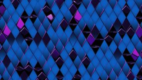 3D render background of purple blue shiny rombus. 4k Royalty Free Stock Image