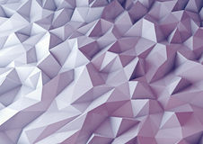 3d render background. Techno triangular low poly Stock Photo