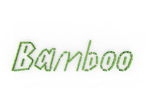 Bamboo Written Royalty Free Stock Image