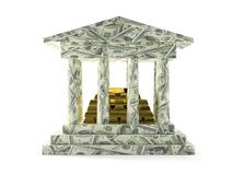 American bank with gold deposit Royalty Free Stock Image