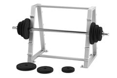 3d render of barbell stand Royalty Free Stock Photography