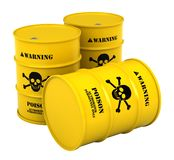 Barrels with poisonous substance Stock Photos