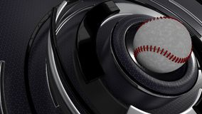 Baseball sports background. 3D Render of a Baseball sports background Royalty Free Stock Photos